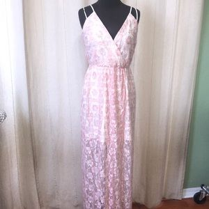BCBG dress with sheer bottom size med
